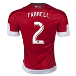 New England Revolution 2015 FARRELL Authentic Away Soccer Jersey