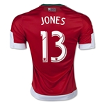 New England Revolution 2015 JONES Authentic Away Soccer Jersey