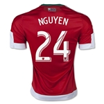 New England Revolution 2015 NGUYEN Authentic Away Soccer Jersey
