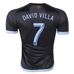 New York City FC 2015 DAVID VILLA Authentic Away Soccer Jersey