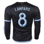 New York City FC 2015 LAMPARD LS Authentic Away Soccer Jersey