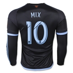 New York City FC 2015 MIX LS Authentic Away Soccer Jersey