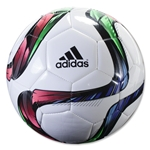 adidas Conext15 Glider Soccer Ball (White/Night Flash/Flash Green)