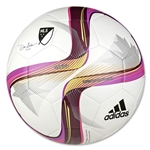 adidas MLS 2015 Glider Soccer Ball (White/Flash Pink/Pink)