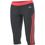 adidas Women's TechFit 3/4 Tight (Gray/Red)