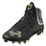 Under Armour Banshee Mid MC Lacrosse Cleats (Black/White)