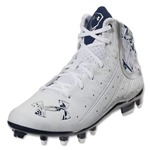 Under Armour Banshee Mid MC Lacrosse Cleats (White/Midnight Navy)