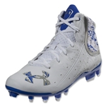 Under Armour Banshee Mid MC Lacrosse Cleats (White/Team Royal)