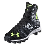 Under Armour LAX Highlight RM KIDS Lacrosse Cleats (Black/Charcoal)