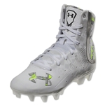 Under Armour Women's LAX Highlight MC Lacrosse Cleats (White/Metallic Silver)