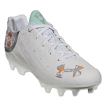 Under Armour Women's LAX Finisher MC (White/Metallic Silver/Citrus Blast)