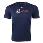 Nike USA Lacrosse Logo Dri-FIT Legend T-Shirt (Navy)