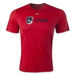 Nike USA Lacrosse Logo Dri-FIT Legend T-Shirt (Red)