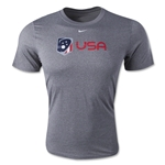 Nike USA Lacrosse Logo Dri-FIT Legend T-Shirt (Gray)