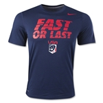 Nike USA Lacrosse Fast or Last Dri-FIT Legend T-Shirt (Navy)