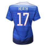 USA 2015 HEATH Women's Away Soccer Jersey