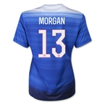 USA 2015 MORGAN Women's Away Soccer Jersey