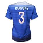 USA 2015 RAMPONE Women's Away Soccer Jersey