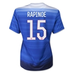 USA 2015 RAPINOE Women's Away Soccer Jersey