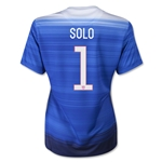 USA 2015 SOLO Women's Away Soccer Jersey