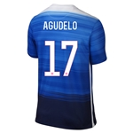 USA 2015 AGUDELO Away Soccer Jersey