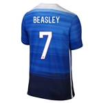 USA 2015 BEASLEY Away Soccer Jersey