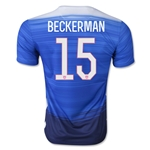 USA 2015 BECKERMAN Away Soccer Jersey