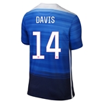 USA 2015 DAVIS Away Soccer Jersey