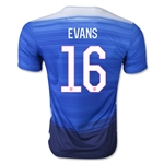 USA 2015 EVANS Away Soccer Jersey