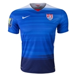 USA 2015 Away Soccer Jersey w/ Gold Cup Patch