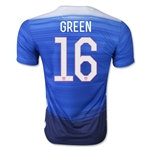 USA 2015 GREEN Away Soccer Jersey