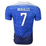 USA 2015 MORALES Away Soccer Jersey