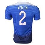 USA 2015 YEDLIN Away Soccer Jersey