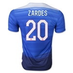 USA 2015 ZARDES Away Soccer Jersey