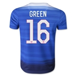 USA 2015 GREEN Youth Away Soccer Jersey