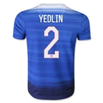 USA 2015 YEDLIN Youth Away Soccer Jersey
