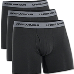 Under Armour Charged Cotton Stretch 6 Boxerjock 3 Pack (Black)