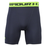 Under Armour Heatgear Compression Short (Gray/Green)