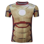 Under Armour Youth HeatGear Iron Man Graphic All Over T-Shirt (Vegas Gold)