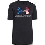 Under Armour Youth Big Logo USA T-Shirt (Black)