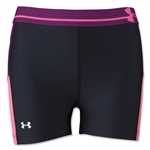 Under Armour HeatGear Alpha Print Compression 3 Shorty (Black/Pink)