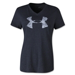 Under Armour Charged Cotton Painted UA V-Neck Women's T-Shirt (Blk/Wht)