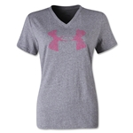 Under Armour Charged Cotton Painted UA V-Neck Women's T-Shirt (Heather Sv)