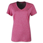 Under Armour Twisted Tech V-Neck Women's T-Shirt (Neon Pink)