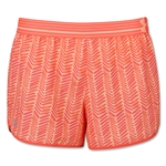 Under Armour Striped Perfect Pace Short (Orange)