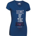 Under Armour Girls Home of the Brave V-Neck Girls T-Shirt