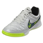 Nike Junior Tiempo Genio Leather IC (White/Volt/Soar/Black)