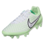 Nike Women's Magista Orden FG (White/Chrome/Vapor Green)
