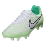 Nike Women's Magista Onda FG (White/Chrome/Vapor Green/Magenta)
