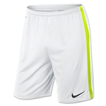 Nike Squad Longer Knit Short (White/Lime)